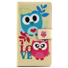 Lovely Pink Cute Cartoon Animal Owl Elephant Retro Camera Radio Wallet Cover Case For Sony Xperia M2 S50h Phone Case Free