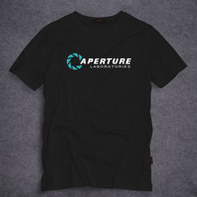 Portal 2 Aperture Laboratories Logo Men's T-shirt Video Game Fan Clothing Shirt 100% cotton Short Sleeve T shirt S-5XL