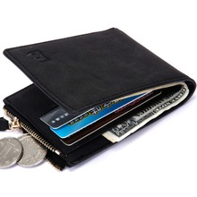Baborry HOT New Mens Wallets Short Coin Purse Small Fashion High Quality Designer Black Brown ID Credit Card Holder Purse Wallet