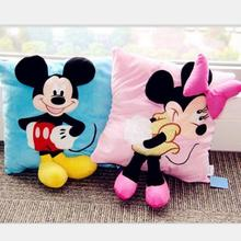 35cmHot Sale Staffed Animal Pillow Cushion Cute Mickey Mouse and Minnie Mouse Plush Toys Gifts for KIds Girls(China)