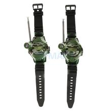 2Pcs 7 in 1 Children Toy Walkie Talkie Kids Wrist Watches Outdoor Interphone