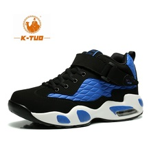 K-TUO High Top Basketball Shoes Men Women Boots Breathable Non Slip Shoes Loves Sports Air Basketball Outdoor Sneakers KT-2289