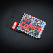 DC Marvel Comics Leather Wallet for Men Women High Quality Card Holder Purser monederos carteras hombre The Revenge Wallets(China)
