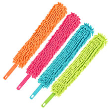 Hot Double-sided Chenille Microfiber Steel Sponge PVC Dust Duster Anti-static Cleaning Brush Household Collector EZLIFE GF395