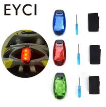 3 LED Bike Light Taillight Safety Warning Bicycle Rear Lamp Mountaineering Backpack Helmet Running Lights Safety Warning Lights(China)