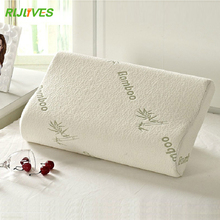 High Quality Bamboo Fiber Pillow Slow Rebound Memory Foam Pillow Health Care Pillow Massager(China)