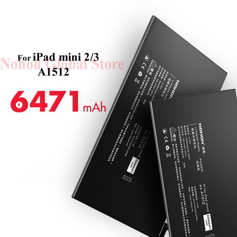 Nohon Battery For iPad mini 2 3 A1512 mini2 mini3 6200-6471mAh A1489 A1490 A1491 A1599 Bateria For Apple iPad mini 2 3 Batteries Details (04)