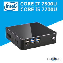 Eglobal Intel Core i7 7500U i5 7200U i3 7100U Kaby Lake Mini Computer Nettop Micro PC Windows 10 TV Box HTPC 300M Wifi HDMI VGA