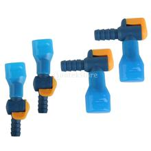 4 Pieces Straight & Right Angle Type Replacements Hydration Pack Bladder Water Bag Suction Pipe Tube Nozzle with Dust Cap