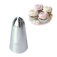 #852#2D Icing Piping Nozzles Cake Cream Decoration Head Confectionery Baking Tools Bakery Cake Tips(China)
