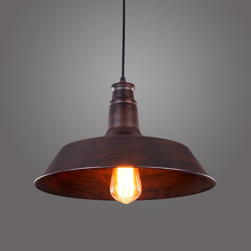 Modern Pendant Light Iron Lamp E27 Socket lampholder Hanging Light D26mm Black/White/Rust For Dining Room WPL011<br>
