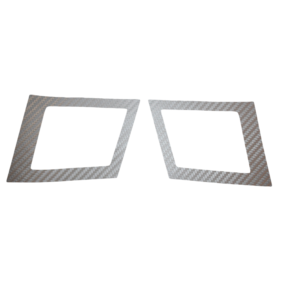 Car Air Conditioning Outlet Sticker For MITSUBISHI Lancer EX 2010 2011 2012 Carbon Fiber Car Stickers Car-Styling 2pcs Per Set 3