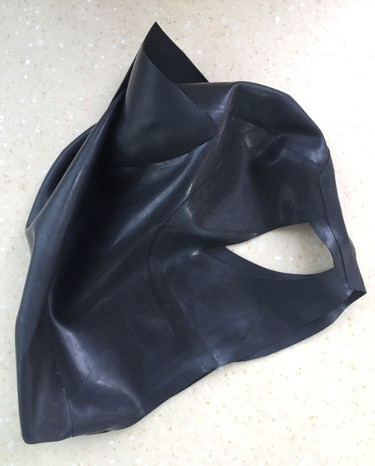 Crazy club_Latex Fetish Black Latex Cat Mask Fetish Natrual Rubber Party Hood Cosplay Catwomen Custom Size Zentai Mask Hot Sale<br>
