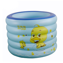 High Quality Blue Family Round Cartoon Inflatable Pools PVC Piscina Piscine Children Swimming Pools Size 105*105CM