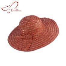 Ladies Mixed Straw Braid Sun Hat   Matching Tie Trim Beach Hat Paper Hat  Sun hat S10-3577 1523fe98ad46