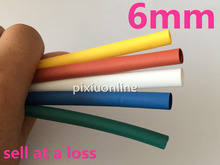 1 Meter/lot DS135 2:1 Colorful 6mm Diameter Heat Shrink  Heat shrink Tubing Tube Sleeving Wrap Wire Free Shipping Russia