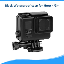 Black Version Housing Case for Gopro accessories Waterproof Case 45m Underwater Diving Shell Cover for Go pro hero 3+/4