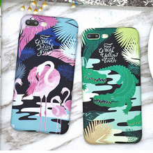 new summer style green crocodile purple Flamingo cover for apple iphone 6 6s 6P plus iPhone 7 7P soft silicone mobile phone Case