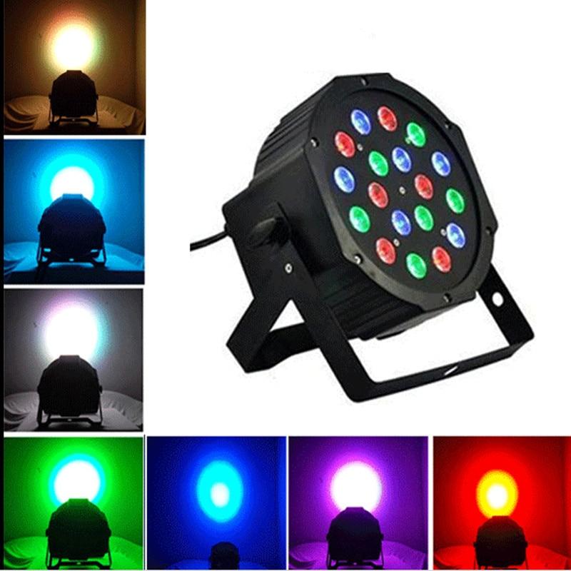 18*3W 12W RGBW RGB Led Stage Light 110V 220V Par Light With DMX512 Master Slave Flat DJ Equipments Controller for Party Disco<br><br>Aliexpress