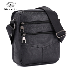 Upgrade edition Retro Soft Real Leather Men Bag Small Shoulder Travel Crossbody Bags Male messenger bag for man