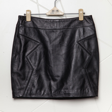 Humiture Women's genuine sheepskin leather short stylish skirt 7717