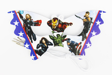 12pcs Avengers Cartoon Pattern Theme Party Mask kids Birthday Party Decorations Christmas Eye Cover Party Supplies(China)