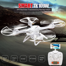 TK109W Drone with Camera 2.4G 4CH 3D Roll Big Remote Control Toy Drone with HD Camera APP Control FPV RC Quadrocopter G- Sensor