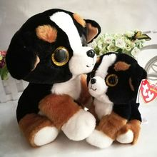 2016 TY BEANIE BABIES 2pcs one lot 25cm and 15CM ROSCOE Dog Big Eyes Plush Toys Stuffed animals original hang tag(China)