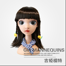 GIA Famous Brand Kid Mannequin High Quality Plastic Children Female Mannequin Head For Wig Sunglass Jewelry Display