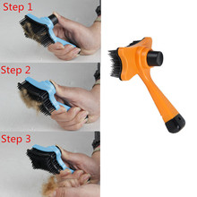 New 2017 Pet Dog Cat Hair Fur Shedding Trimmer Grooming Rake Professional Comb Brush Tool