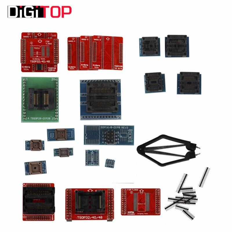 Full Set 21pcs Socket Adapters for Super For Mini Pro TL866A/TL866CS EEPROM Programmer<br><br>Aliexpress
