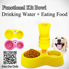 automatic water dog dish - Drinking & Eating bowl for pet, dog water dog food feeder, pet dog cat tray feeder