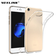 VOXLINK Ultra Thin Soft TPU Gel Transparent Crystal Clear Silicon Back Cover Case coque for iPhone 7 / 7 Plus Case