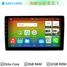 "10.1"" 2GB RAM 32GB ROM Car Stereo Autoradio GPS Navigation For Universal Single 1 Din Android 6.0.1 Octa Core 1024*600 Head Unit"
