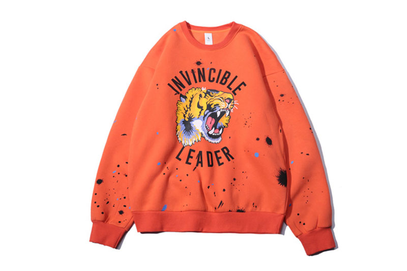 Aolamegs Male Sweatshirt Tiger Inked Print Sweatshirts O-Neck Pullover Streetwear High Street Hip hop Fashion New Autumn Winter (36)