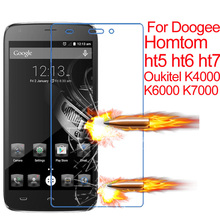 Buy Tempered Glass Screen Protector Cover Coque Case Doogee Homtom ht5 ht6 ht7 5.5 Oukitel K6000 0.26mm Film for $1.55 in AliExpress store