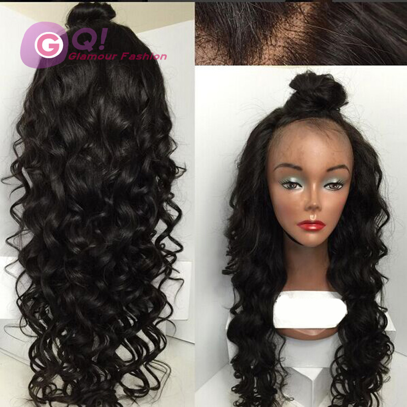 GQ New brazilian body wave wig glueless lace front human hair wigs deep wave front lace wigs with bleached knot for black women<br><br>Aliexpress