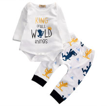 2016 Autumn Fashion baby Boys clothes Baby Boys Long Sleeve Romper Pants Leggings Outfits 2PCS Set newborn baby boy clothing set