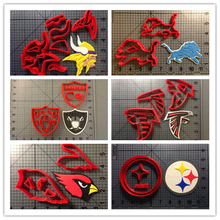 Custom Made 3D Printed Football Team Jersey badge Fondant Cupcake Top Cookie Cutters set
