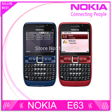 Original phone E63 QWERTY Keyboard Mobile Phone Bluetooth Wifi FM nokia E63 Cell Phone Free Shipping Refurbished(China)