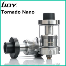 Original IJOY Tornado Nano RTA 4ml capacity Atomizer with 18.6mm Two Post Deck Top Filling For E Cigarette 510 thread Box Vape