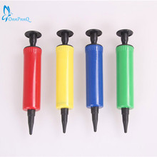 OnnPnnQ Mini Plastic Hand Held Ball Party Balloon Inflator Air Pump Portable Useful Balloon Decoration Tools