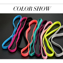 Fashion Novel 10 Colors Elastic Headband Softball  Anti-slip Silicone  Hair Bands