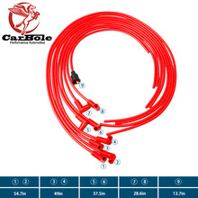CARBOLE Universal 8mm Spark Plug Wires Super Stock, RFI Suppression,  90 Degree Boots,V8, Set