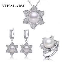 YIKALAISI 2017 100% natural freshwater pearl jewelry for women 925 sterling silver  jewelry premium quality goods wedding gifts
