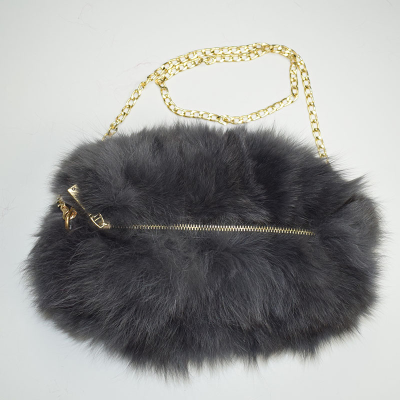 fox fur handmuff grey 1