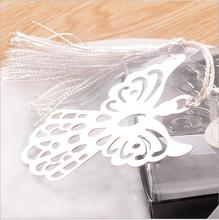 50PCS Angel Silver Bookmark For Baptism Baby Shower Souvenirs Party Christening Giveaway Gift Wedding Favors and Gifts For Guest(China)