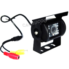 Voltage 12-24V Waterproof Rear View Camera For Trucks With 10M Cable,Night Vision Bus Truck Reverse Camera With 18 IR LED Lights(China)