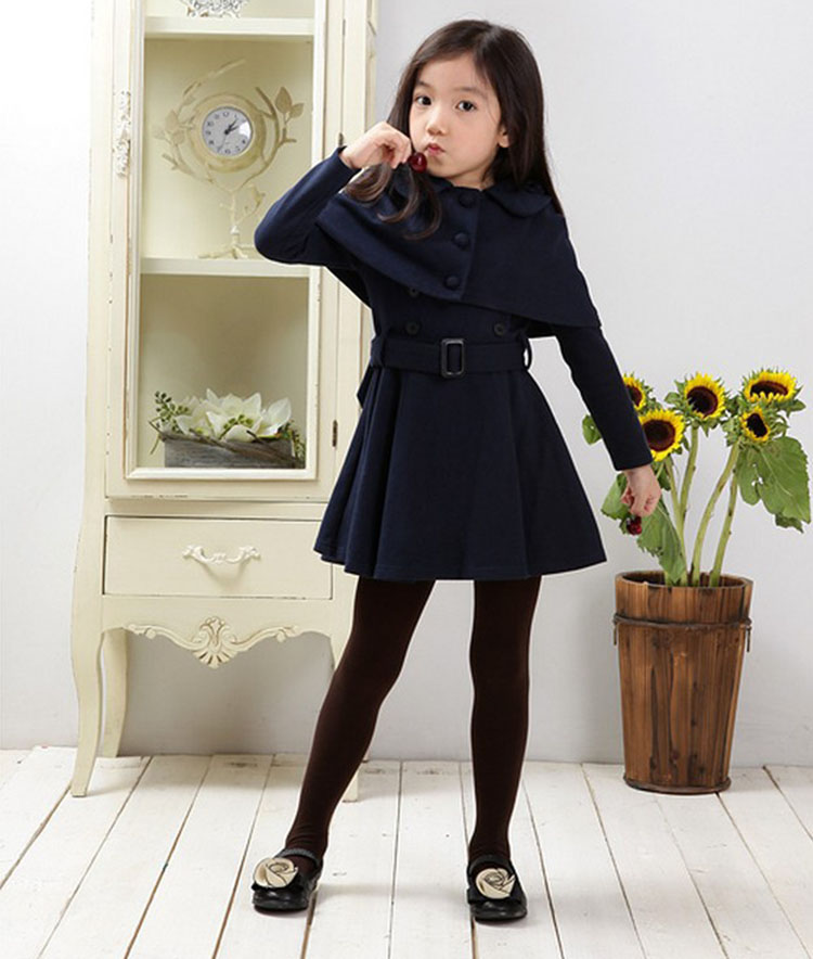 kids clothes winter 2017 two pieces set woolen girls casual dresses size 14<br>