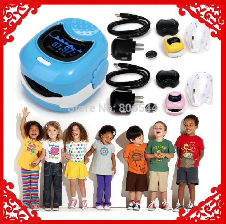 Color OLED Fingertip Pulse Oximeter for Children for Child - Spo2 Monitor Kids test 3 colors AAA+++<br>